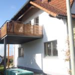 Balkon Stahl und Holz