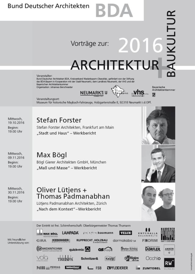 Wir freuen uns, als Sponsor der kommenden BDA Vorträge mit dabei zu sein! Gemeinsam mit Berschneider + Berschneider laden wir Freunde, Architekturverliebte und Designfans ein - lasst euch diese interessante Reihe nicht entgehen!