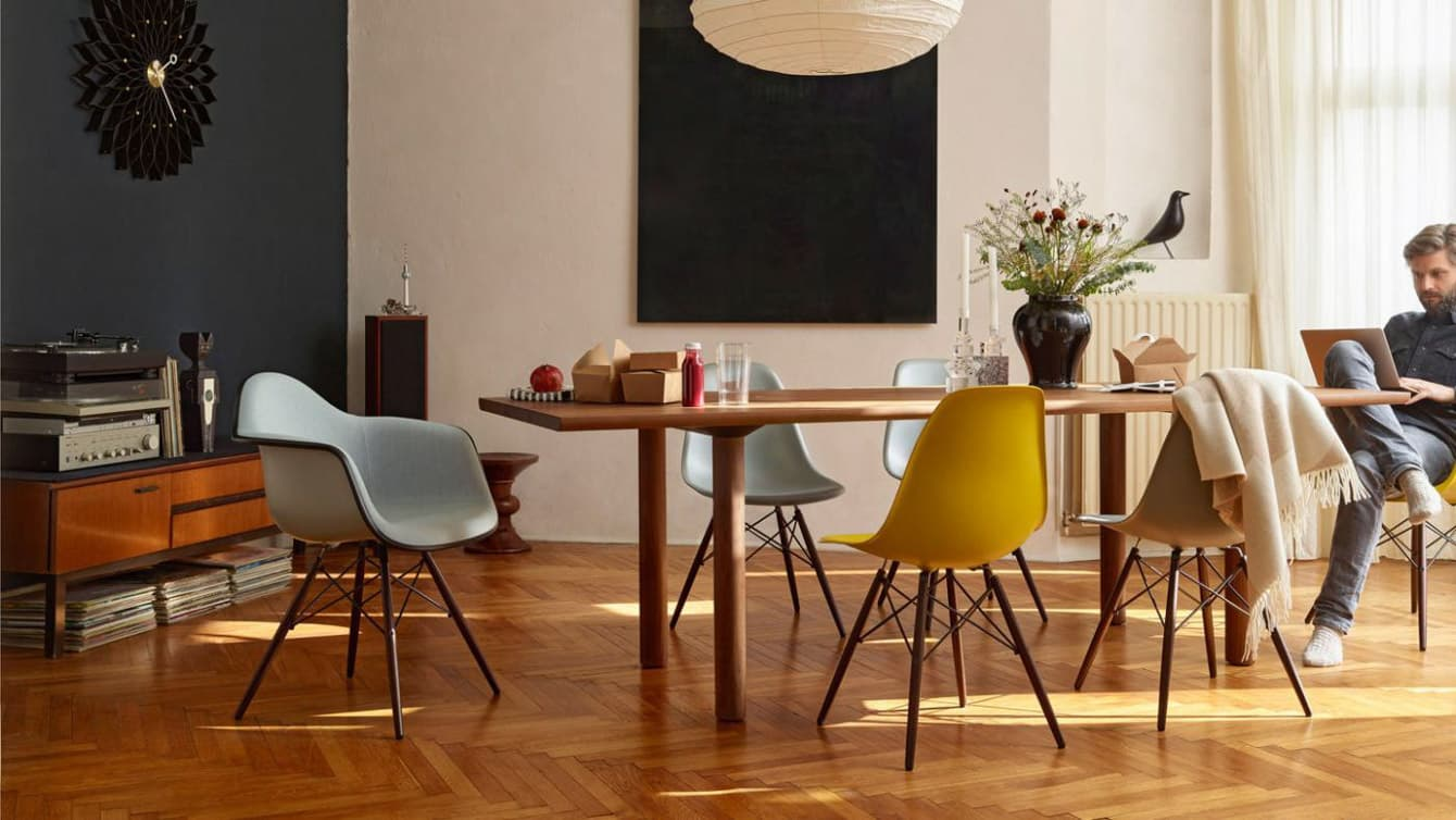 vitra plastic chair dsr dsw