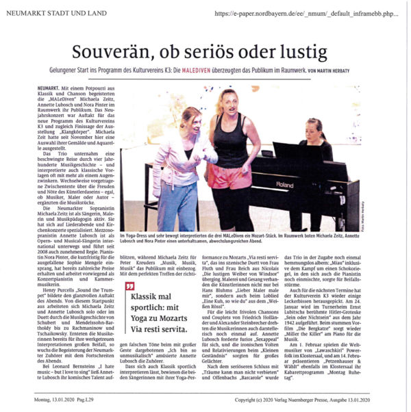 Artikel NM Nachrichten MaLeDiven_